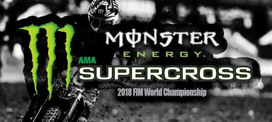 Cronometragem ao vivo do Monster Energy Supercross