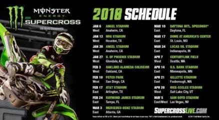 Calendário do AMA Supercross 2018