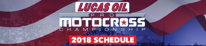 Calendário do Lucas Oil Pro Motocross 2018