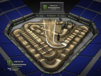 Volta virtual Monster Energy Supercross 2018 em San Diego