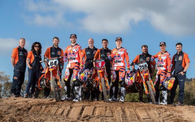 Red Bull KTM Factory Racing lança seu line up para 2018