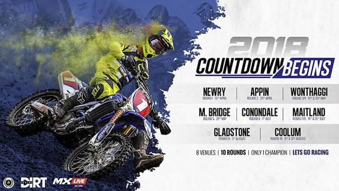 Calendário do Campeonato Australiano de Motocross 2018