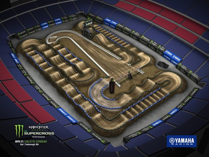 Volta virtual Monster Energy Supercross 2018 em Foxborough