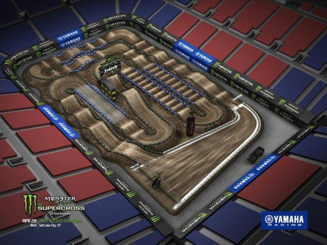 Volta virtual Monster Energy Supercross 2018 em Salt Lake City
