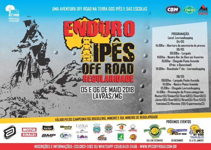 Minas Gerais recebe nos dia 05 e 06 de maio Enduro dos Ipês