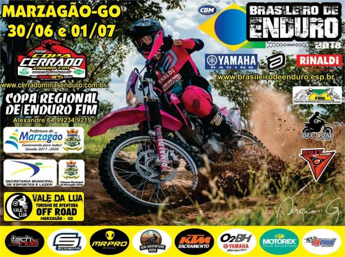 Próximas etapas do Brasileiro de Enduro FIM acontecem em Goiás