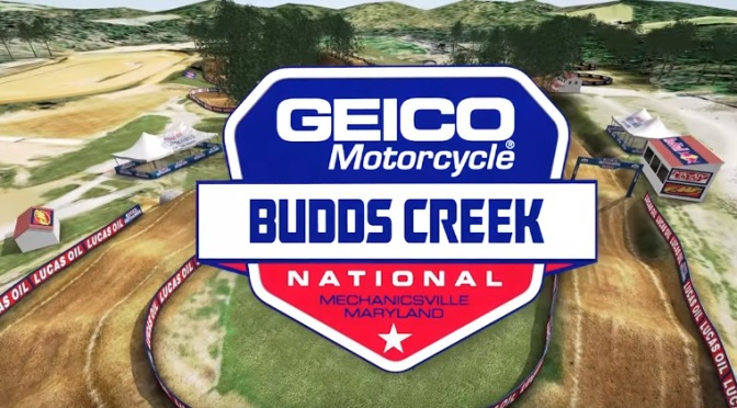 Volta virtual Lucas Oil Pro Motocross 2018 em Budds Creek