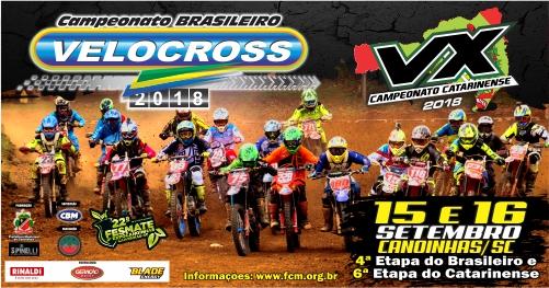 Brasileiro de Velocross 2018 chega a Canoinhas para a sua 4ª etapa
