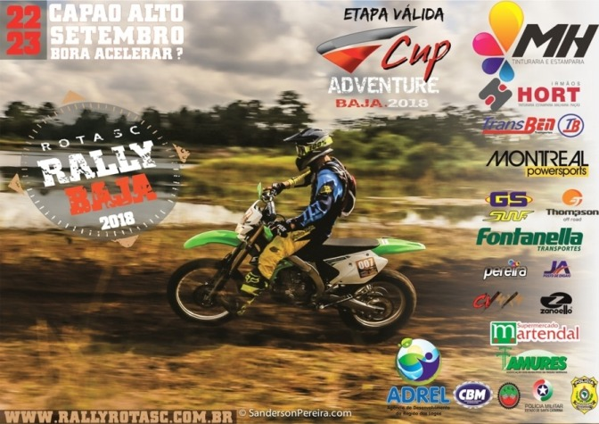 Brasileiro de Rally Baja chega à SC nos dias 22 e 23 de setembro