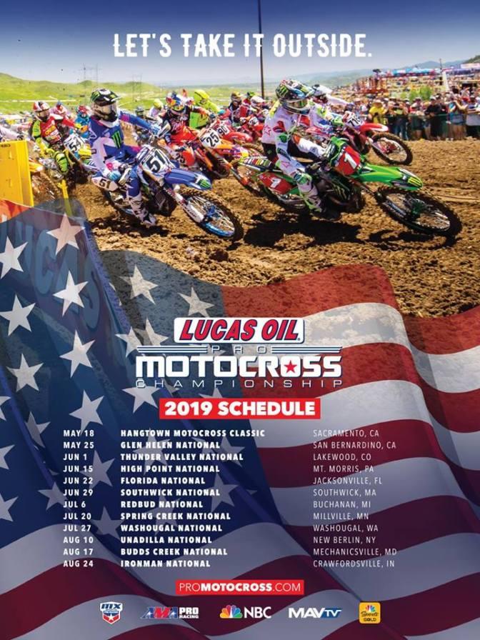 Calendário do AMA Motocross 2019 é anunciado
