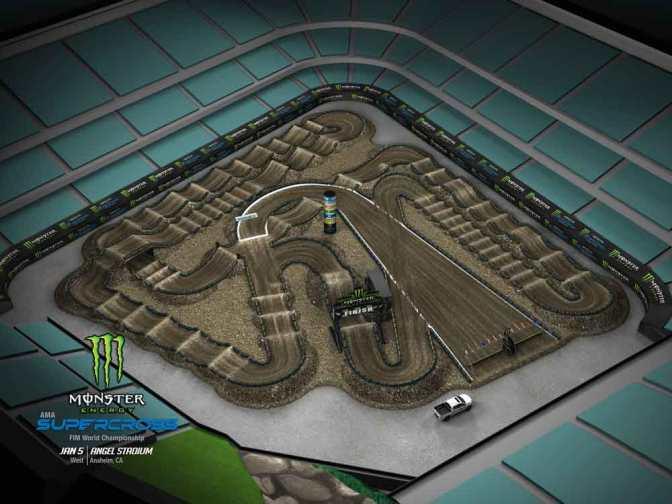 Volta virtual Monster Energy Supercross 2019 em Anaheim #1