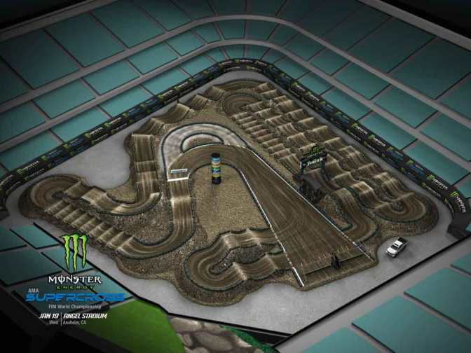 Volta virtual Monster Energy Supercross 2019 em Anaheim#2