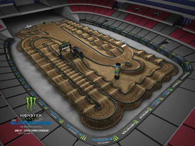 Volta virtual Monster Energy Supercross 2019 em Glendale