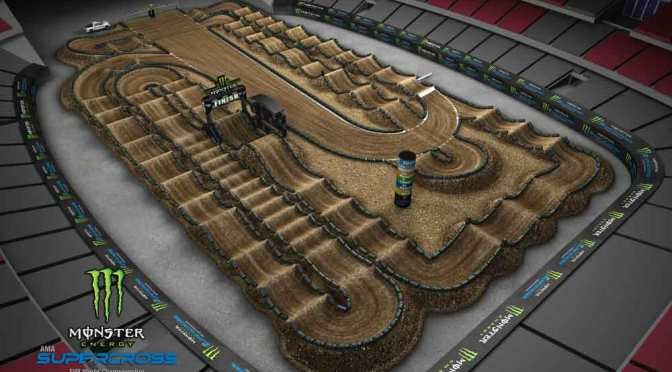 Volta virtual Monster Energy Supercross 2019 em Glendale