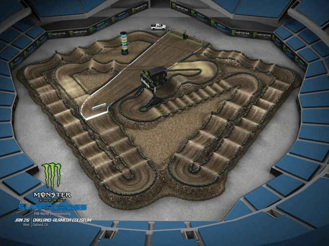 VOLTA VIRTUAL MONSTER ENERGY SUPERCROSS 2019 EM OAKLAND