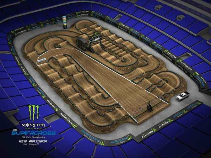 Volta virtual Monster Energy Supercross 2019 em Arlington
