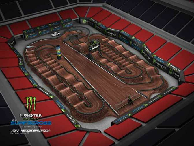 Volta virtual Monster Energy Supercross 2019 em Atlanta