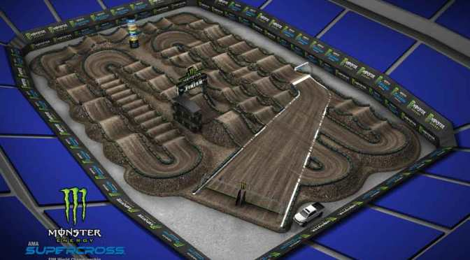 Volta virtual Monster Energy Supercross 2019 em Detroit