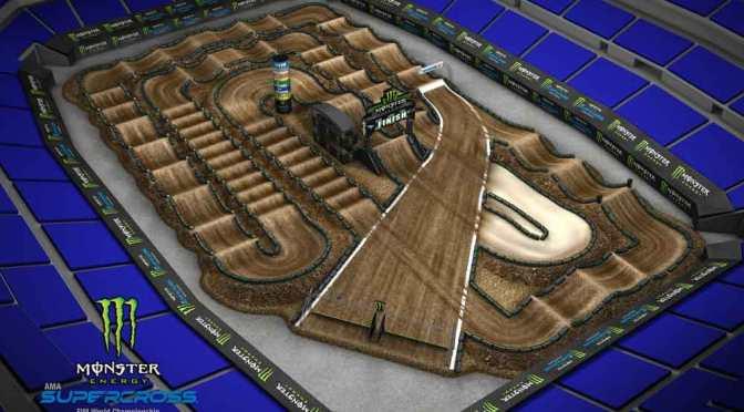 Volta virtual Monster Energy Supercross 2019 em Indianapolis