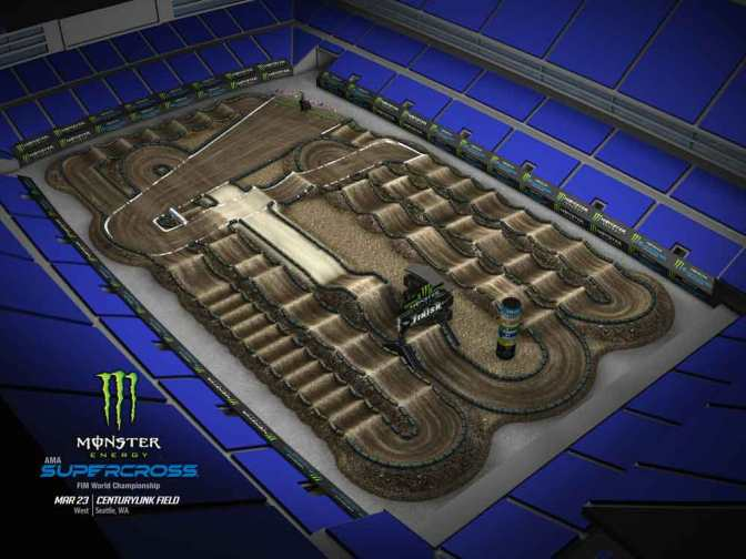 Volta virtual Monster Energy Supercross 2019 em Seattle