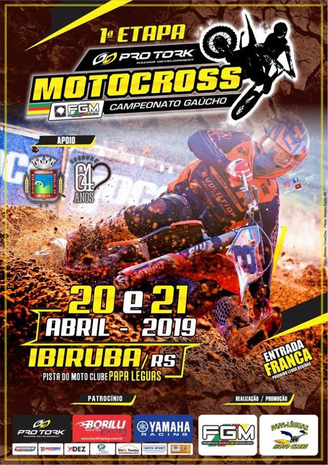 Temporada 2019 do Pro Tork Gaúcho de Motocross começa neste fim de semana