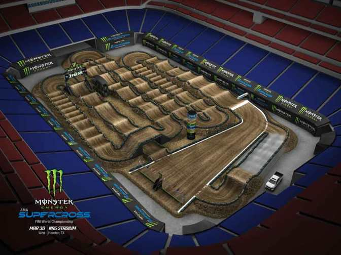 Volta virtual Monster Energy Supercross 2019 em Houston