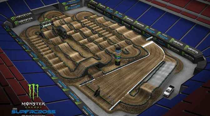 Volta virtual Monster Energy Supercross 2019 em Houston