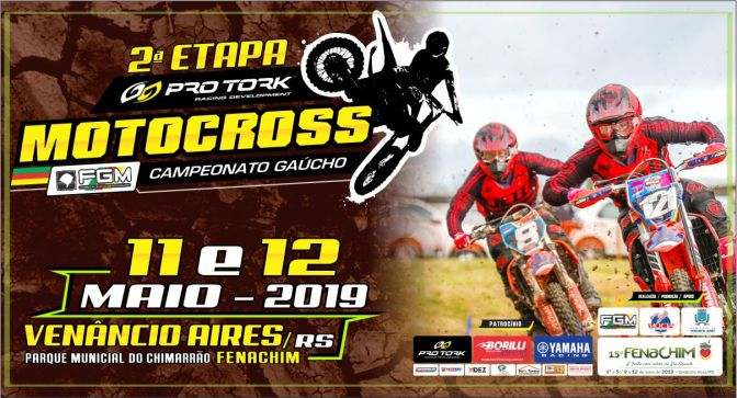 Venâncio Aires recebe a 2ª Etapa do Pro Tork Gaúcho de Motocross