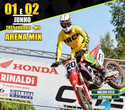 Três classes terão provas oficias no sábado (1/6) na 3ª etapa do Brasileiro de Motocross no Mato Grosso do Sul