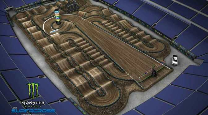 Volta virtual Monster Energy Supercross 2019 em Las Vegas