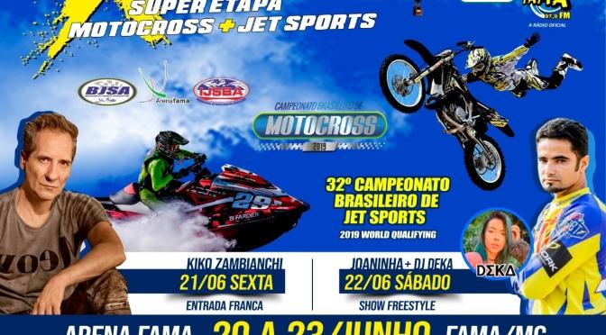 4ª etapa do Brasileiro de Motocross terá atrações dentro e fora da pista em Fama (MG)