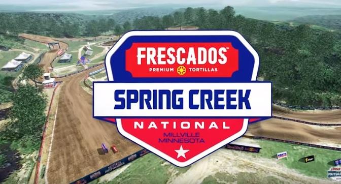 Volta virtual Lucas Oil Pro Motocross 2019 em Spring Creek