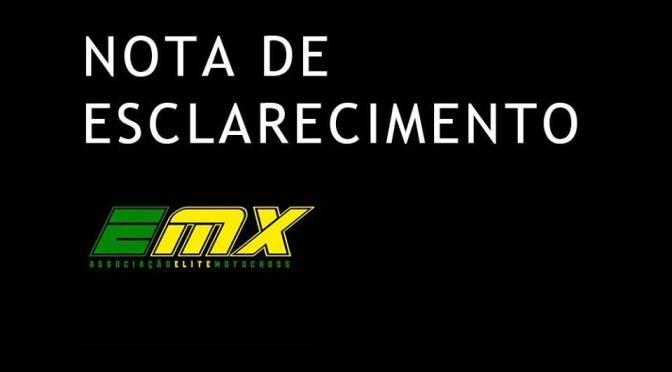 Comunicado da Associação Elite MX sobre a 6ª etapa do Brasileiro de Motocross 2019