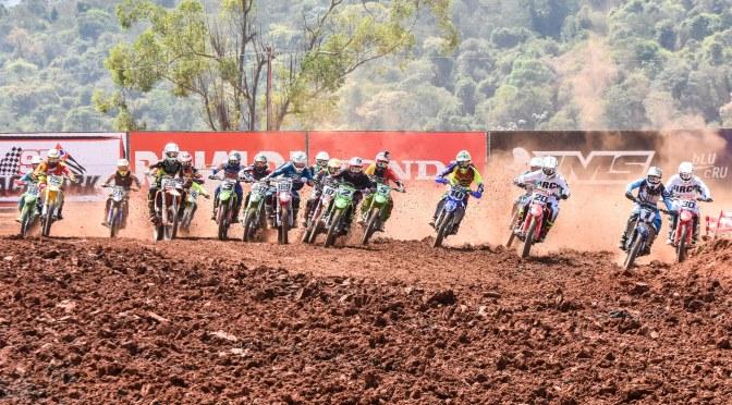 Pilotos da MX1 e MX2 somam pontos apenas da primeira bateria na 6ª etapa do Brasileiro de Motocross